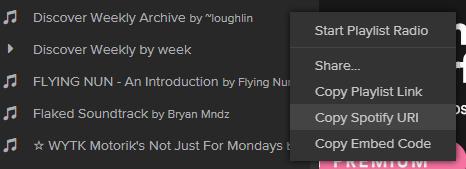 spotify-playlist-uri